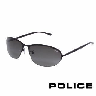 【POLICE】都會復古飛行員太陽眼鏡(消光黑 POS8692-0531)
