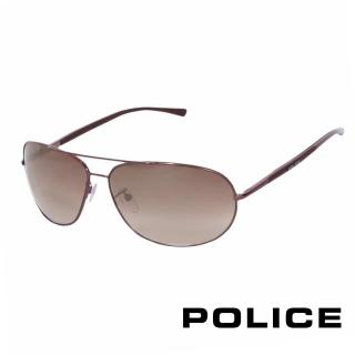 ~POLICE~都會復古飛行員太陽眼鏡^(古銅色 POS8691~K01X^)