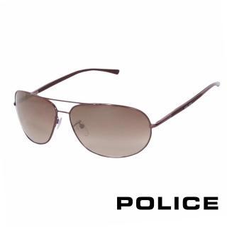 【POLICE】都會復古飛行員太陽眼鏡(古銅色 POS8691-K01X)