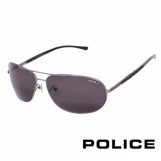 ~POLICE~都會偏光飛行員太陽眼鏡^(銀灰色 POS8691~627P^)