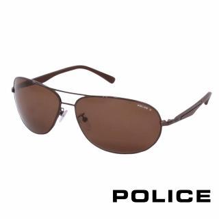 ~POLICE~都會 偏光飛行員太陽眼鏡^(古銅色 POS8757~K05P^)