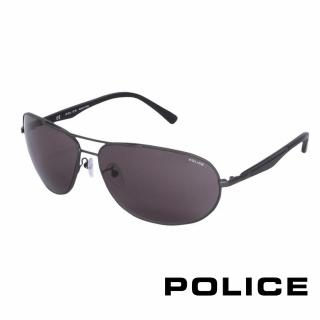 ~POLICE~都會 飛行員太陽眼鏡^(鐵灰色 POS8757~0627^)