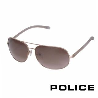 【POLICE】都會時尚太陽眼鏡(復古金 POS8698-383X)