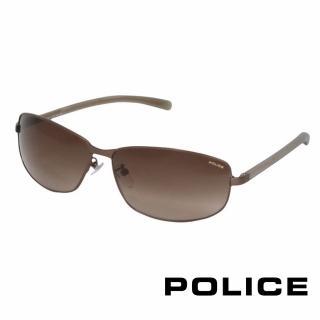 【POLICE】都會時尚太陽眼鏡(古銅色 POS8697-0R10)