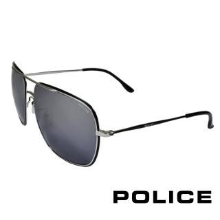 【POLICE】飛行員太陽眼鏡金屬大框面(黑+金 POS8638-K07X)