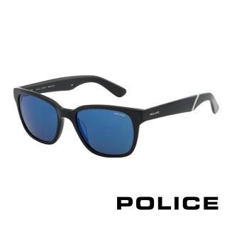 【POLICE】飛行員太陽眼鏡 復古膠框時尚必備(黑色 POS1714-700B)