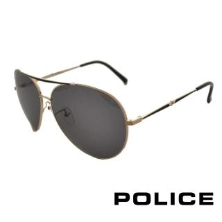 【POLICE】飛行員太陽眼鏡 金屬大框面時尚必備(古銅金 POS8585-0301)