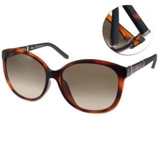 【Chloe 太陽眼鏡】法式時尚唯美貓眼款(琥珀透棕-黑#CL668SA 219)