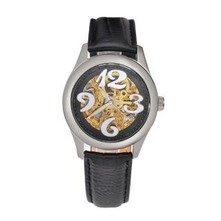 【FLUNGO佛朗明哥】愛麗絲花園機械腕錶-黑(機械錶)