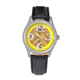 【FLUNGO佛朗明哥】愛麗絲花園機械腕錶-黃(機械錶)