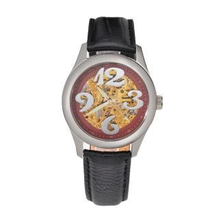 【FLUNGO佛朗明哥】愛麗絲花園機械腕錶-紅(機械錶)