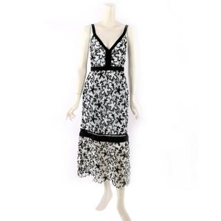 【SELF-PORTRAIT】無袖蕾絲過膝洋裝(淺藍/白/黑)