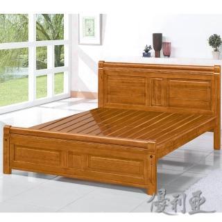 【優利亞-古典雕花】雙人5尺實木床架(實木床板)