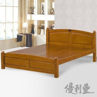 【優利亞-安琪】雙人5尺實木床架(不含床墊)