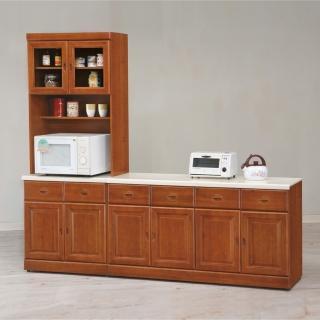 【時尚屋】長榮樟木8尺L型餐櫃UZ6-319-5(餐櫃 收納櫃 碗碟櫃)