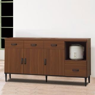 【時尚屋】詠昶淺胡桃5.3尺碗盤櫃UZ6-345-2(餐櫃 收納櫃)