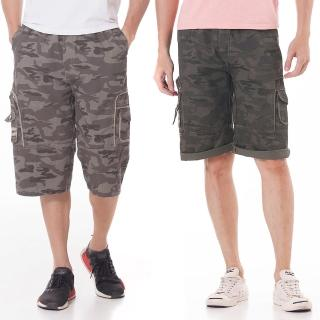 【EXPOSE】軍式風格迷彩工作休閒短褲