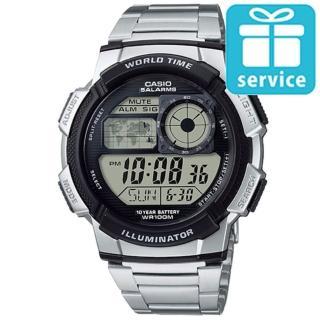【CASIO】數位迷你世界地圖電子錶(AE-1000WD-1A)
