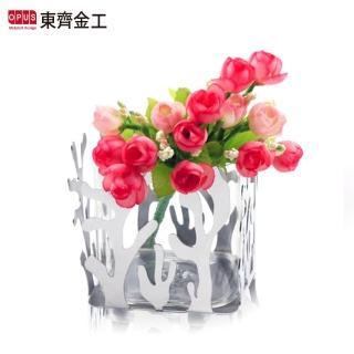【OPUS 東齊金工】不鏽鋼藝術系列 金屬鏡面花器(珊瑚花瓶 VS012)