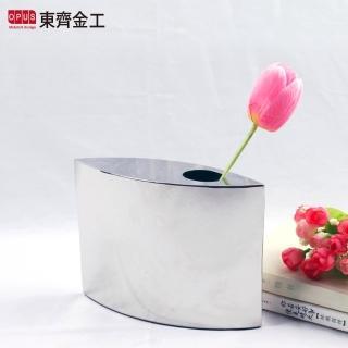 【OPUS 東齊金工】不鏽鋼藝術系列 金屬鏡面花器(貓眼檯面花瓶 VS014)