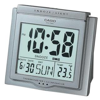 【CASIO】方形大字幕數位鬧鐘(DQ-750F-8)