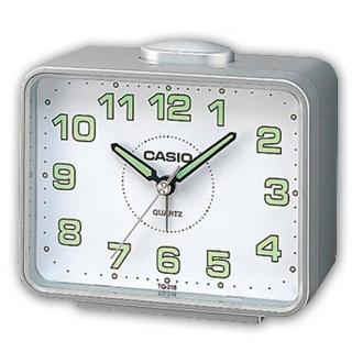 【CASIO】夜間實用桌上型鬧鐘(TQ-218-8B)