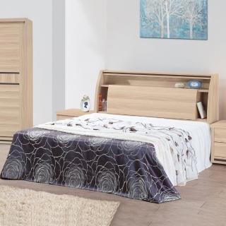 【時尚屋】米羅原切橡木6尺加大雙人床5U6-4-21+30609(加大雙人床 床架 臥室)