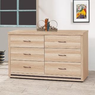 【時尚屋】米羅原切橡木4尺六斗櫃5U6-134-308(斗櫃 收納櫃 臥室)