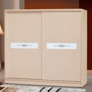 【時尚屋】白橡朵拉7x7尺衣櫥5U6-8-77(衣櫥 推門式  臥室)