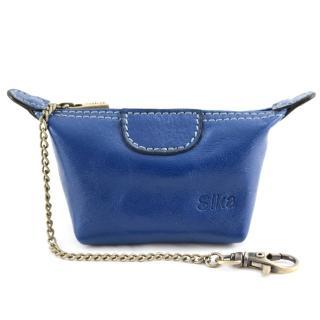 【Sika】義大利時尚真皮經典水餃零錢包(A8290-05亮寶藍)