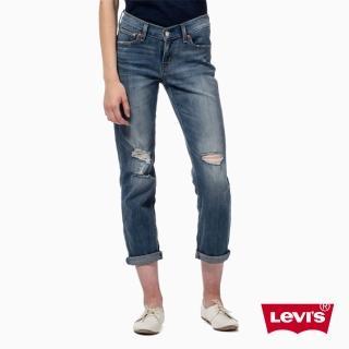 【Levis】BOYFRIEND破洞洗舊水洗丹寧牛仔褲  九分褲