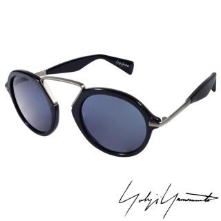 ~Yohji Yamamoto 山本耀司~復古圓形太陽眼鏡^(~藍~YY5009~613^