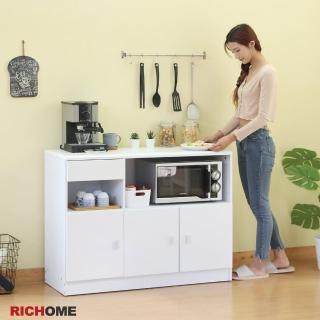 【RICHOME】米娜防潑水三門一抽廚房櫃
