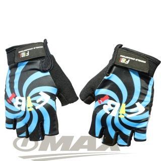 【omax】風火輪萊卡半指手套-藍色(12H)