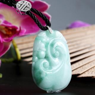 金郁豐-冰糯種翡翠如意項鍊