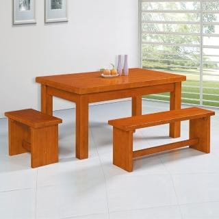 【時尚屋】森活休閒餐桌椅組5U6-189-1+189-2+189-3(餐桌 椅子 餐桌椅組)