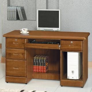 【時尚屋】樟木色4.2尺電腦桌5U6-212-42511(電腦桌 書房)