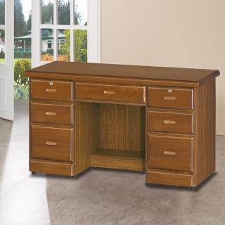 【時尚屋】樟木色4.2尺辦公桌5U6-212-425(書桌 辦公桌)