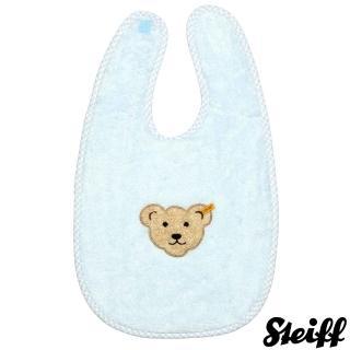 【STEIFF德國金耳釦泰迪熊】嬰幼兒 大圍兜 藍色(嬰幼兒圍兜)