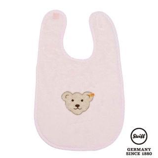 【STEIFF德國金耳釦泰迪熊】嬰幼兒 大圍兜 粉紅色(嬰幼兒圍兜)