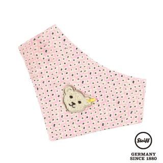 【STEIFF德國金耳釦泰迪熊】嬰幼兒領巾 粉紅點點(嬰幼兒圍兜)