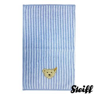 【STEIFF德國嬰幼兒用品】嬰幼兒 小毛巾 藍色直紋(嬰幼兒毛巾/浴巾)