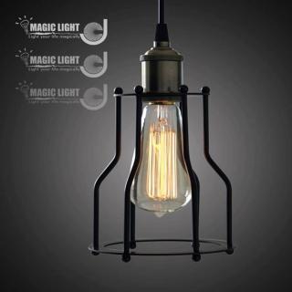 【光的魔法師 Magic Light】小鐵架吊燈 美式鄉村LOFT風