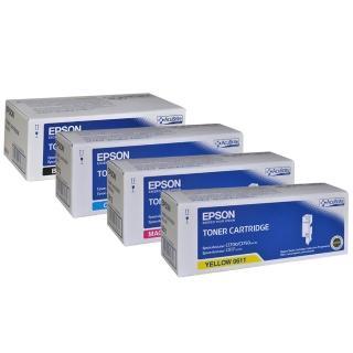 【EPSON】AL-C1700/C1750N/C1750W/CX17NF 原廠碳粉匣(1黑3彩)