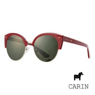 【CARIN】任意依戀 女主角 斐秀智代言 前衛韓流太陽眼鏡(紅色-Roxy-C2)