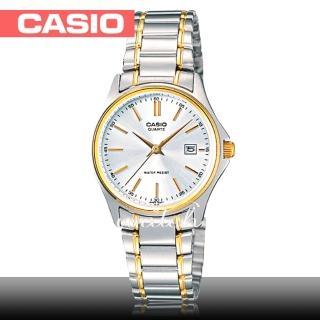 【CASIO 卡西歐】氣質簡約淑女錶款 丁字面不鏽鋼 石英女錶(LTP-1183G)