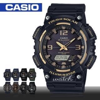 【CASIO 卡西歐】上班族學生推薦 太陽能 雙顯液晶 腕錶(AQ-S810W)