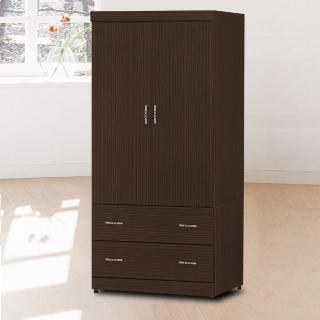 【時尚屋】無敵木心板3x6尺衣櫃5U6-41-36二色可選(衣櫥 拉門式  臥室)