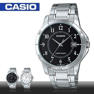 【CASIO 卡西歐】商務型錶款 不鏽鋼數字指針 石英男錶(MTP-V004D)