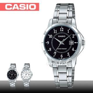 【CASIO 卡西歐】復古錶款 日期顯示 不鏽鋼石英女錶(LTP-V004D)